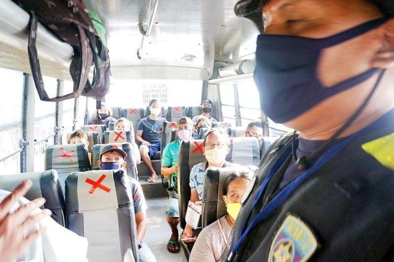 CEBU. Public transport capacity is limited as a precaution against Covid-19. (SunStar Cebu File)