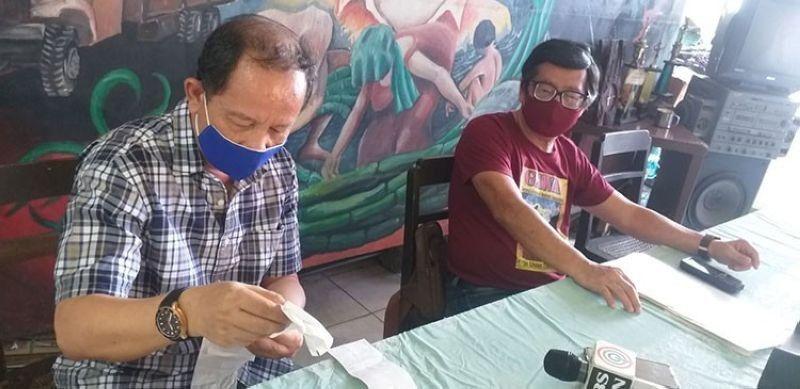 BACOLOD. Gawa Secretary-General Wennie Sancho (right) with fellow representative to the RTWPB-Western Visayas, Hernani Braza. (File photo)