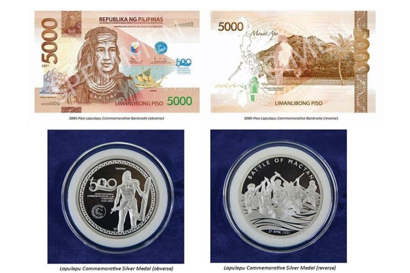 LIMITED EDITION. Filipinos can now buy the Lapu-lapu commemorative banknotes and medals starting Friday, Feb. 19, 2021. But because they are limited edition pieces the Bangko Sentral ng Pilipinas can cater to only one order submission per person. / THE BSP