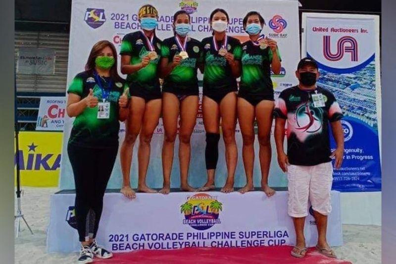 NEGROS. Abanse Negrense Teams taking the podium for a victory photo. (Carmela Arlocas-Gamboa Photo)