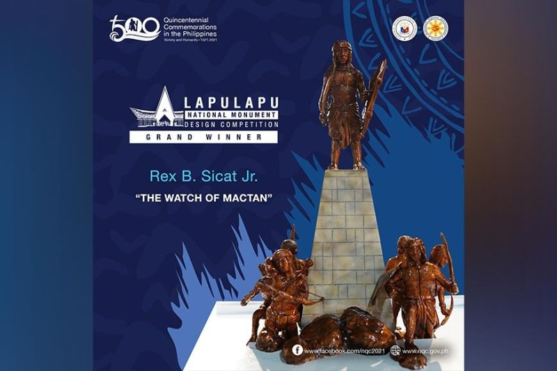 """The front of """"The Watch of Mactan,"""" the grand prize winner in the Lapulapu National Monument Design Competition, by Rex B. Sicat Jr."""