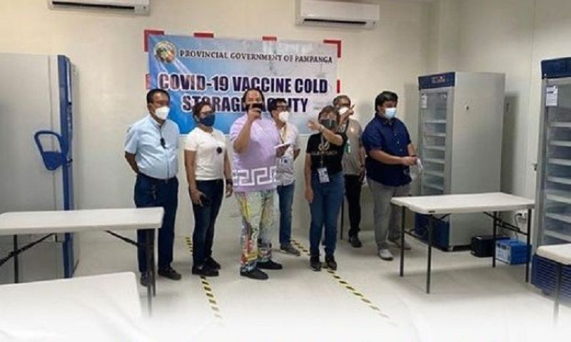 COVID VACCINE FACILITY. Pampanga officials led by Governor Dennis Pineda inspected the Covid-19 vaccine storage facility in the City of San Fernando on Friday. (Governor Pineda facebook page)