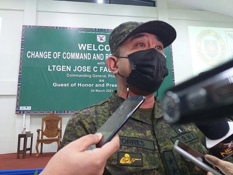 DAVAO. New 10th Infantry Division Commander, Major General Ernesto Torres. (File photo)