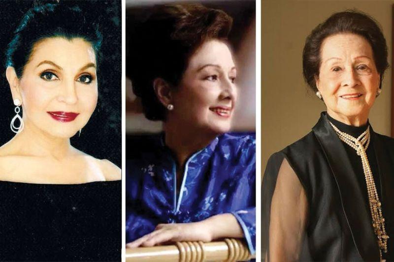 ICONS. Amparito Lhuillier, Ingrid Sala Santamaria and Fe Villarica.