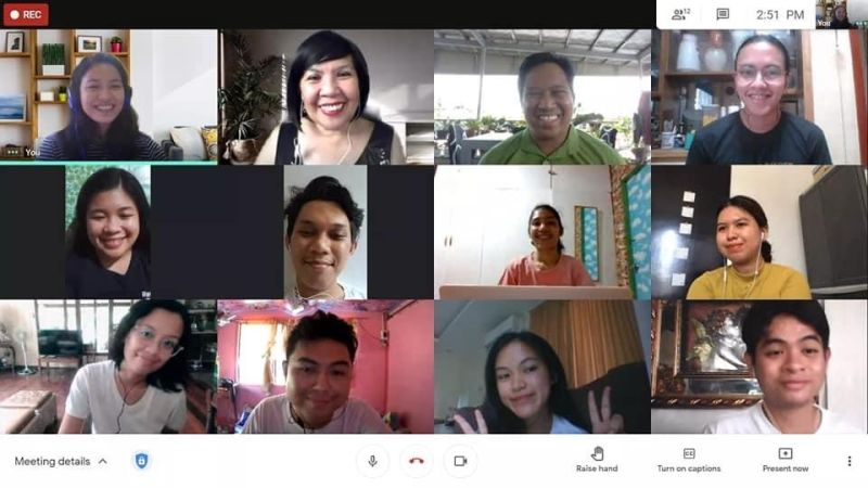 BIG IMPACT. John Naranjo, chief executive officer of Ingenuity, said video conferencing has allowed everyone to work together while being physically separated. The Communication 42 (Editorial Management) Class of Dr. Ma. Cecilia M. Genove of Silliman University in Dumaguete City regularly meets online via Google Meets. (Photo from Com42 class)