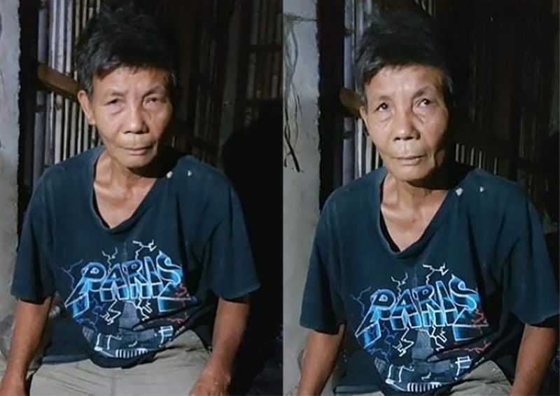 ILOILO. Alias Bing, 66, was caught seeking refuge in a house after a two-minute firefight in Janiuay, Iloilo. (Photo by 12IB)