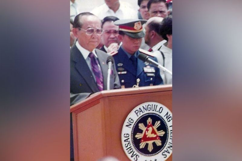 FATHER OF CDC. Former President Fidel V. Ramos (left) will be honored as the Father of Clark Development Corporation through a resolution of express recognition. (CDC-CD file photo)