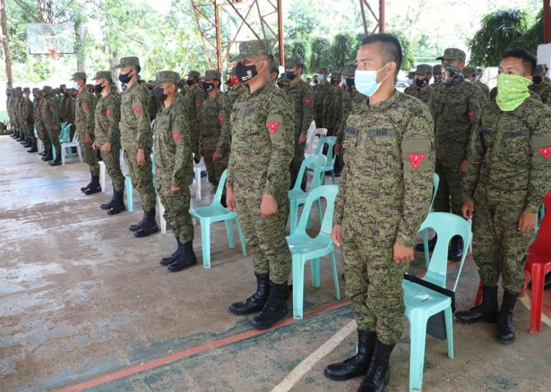 ZAMBOANGA. The Army's 53rd Infantry Battalion (IB) and Zamboanga del Sur provincial government deploy 153 militiamen to render security duty in the province. A photo handout shows the militiamen standing in formation during the send-off ceremony at the headquarters of the 53IB. (SunStar Zamboanga)