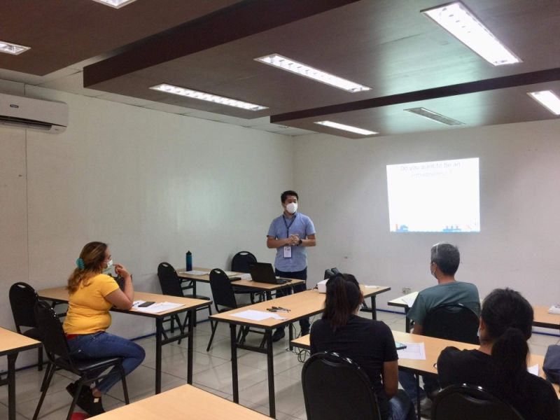 BACOLOD. About 20 OFWs from different localities in the province attended the two-day Entrepreneurship and Business Planning Seminar at its Training Room in Bacolod City until March 18, 2021. (Contributed photo)