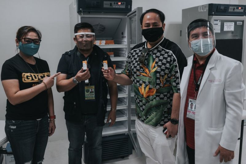 VACCINES. Governor Dennis Pineda received 5,452 doses of Covid-19 vaccines from the Department of Health during the turnover ceremony held at the Provincial Covid-19 Vaccine Cold Storage Facility, PEO Compound, Barangay Sindalan, City of San Fernando. <b>(Pampanga PIO)</b>