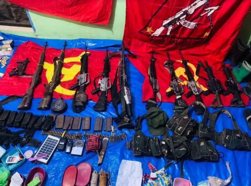 GUIHILNGAN. Eight suspected NPA rebels were killed in a clash with the army in Sitio Agit, Barangay Trinidad, Guihulngan City Tuesday. (Contributed photo)