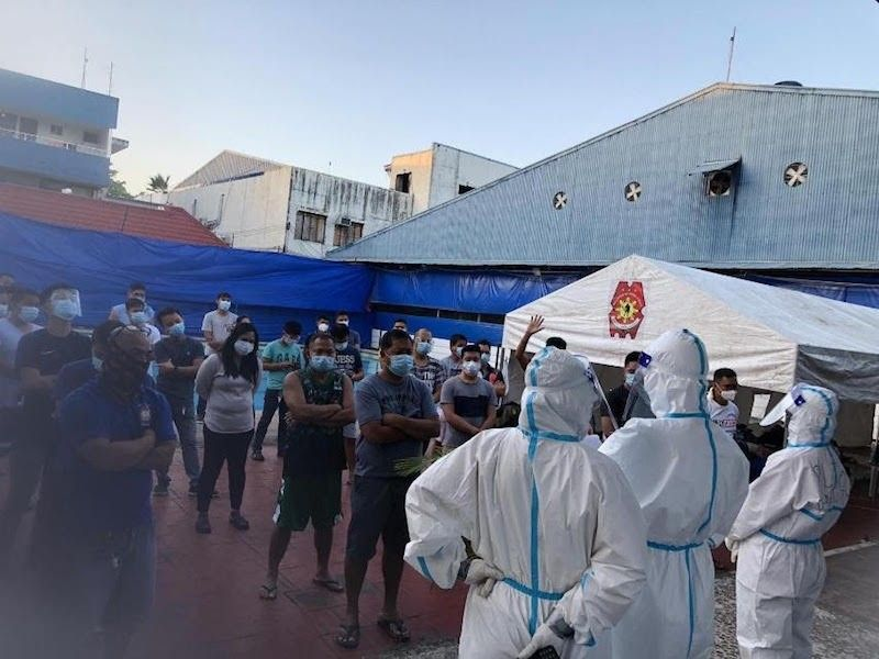 PNP quarantine facility in Camp Crame (From PNP)