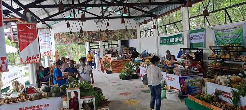 BACOLOD. Some of the participating organic farmers and producers at the two-day