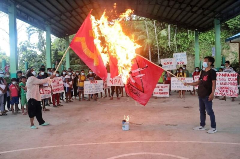 CALATRAVA. Some villagers in Calatrava and Toboso denounced the violence and atrocities committed by the communist terrorist group (CTG) during the two-day consecutive peace rally on March 25-26. (Contributed photo)