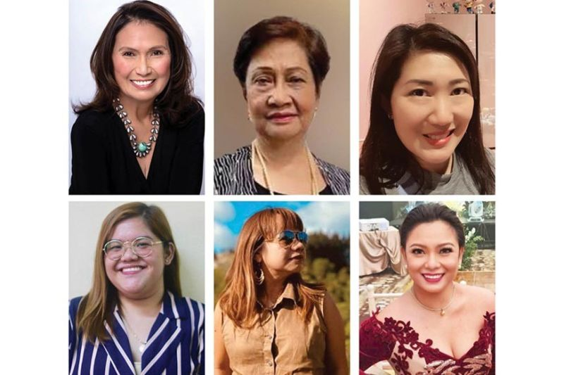 LESSONS. Top row, from left: Cecilia Brainard, Alice Bathan, Twinkle Uy Chu. Bottom row, from left: Regina Via Garcia, Ehda Dagooc, Malou Mozo.