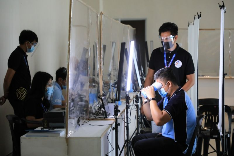 REGISTRATION FOR NATIONAL ID SYSTEM. The City Government of San Fernando, through the City Civil Registry Office, puts up a registration center at Vista Mall as the Philippine Statistics Authority officially started the second step or the registration proper of the Philippine Identification System (PhilSys) rollout on April 6, 2021. (City of San Fernando Information Office)