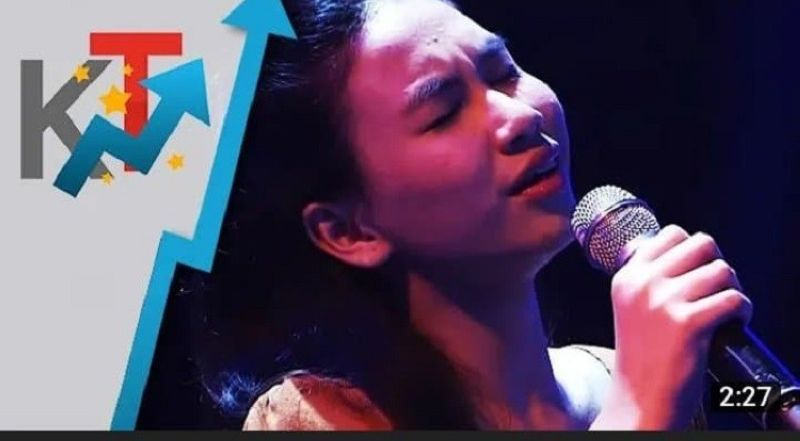 BACOLOD. Daphne in her blind audition at The Voice Teens Season 2. (Screen grabbed from YouTube)