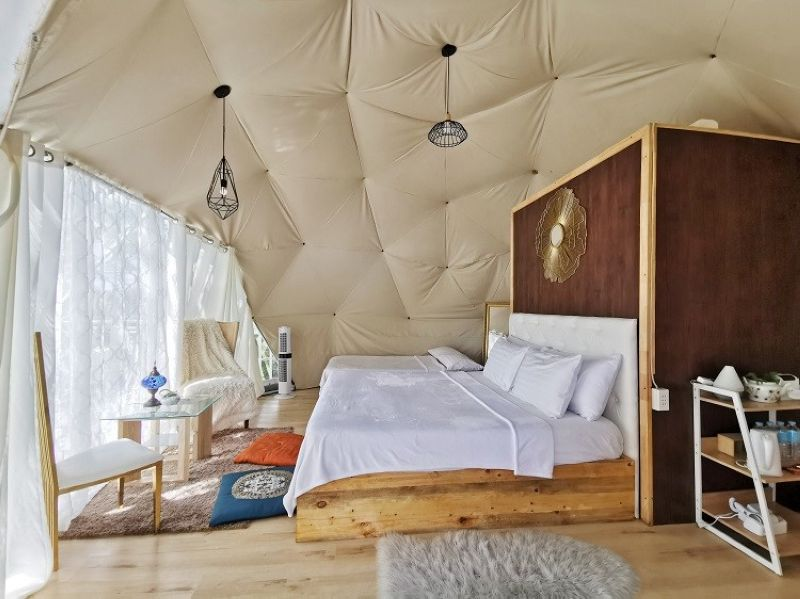 GLAMPING. Sneak peek of TSH's glamping tents. (Contributed photo)