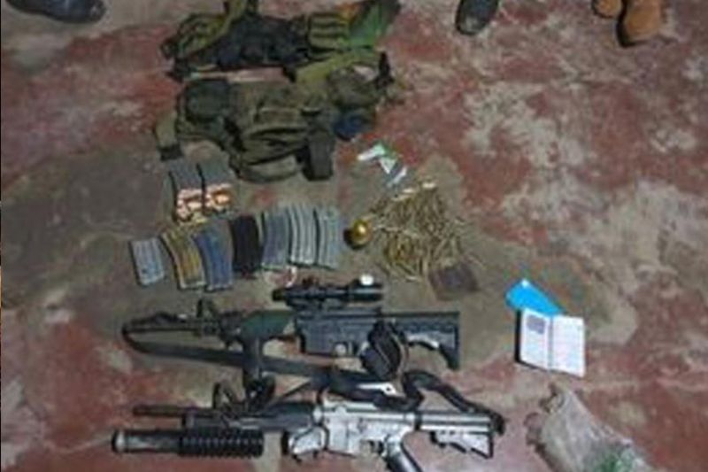 ZAMBOANGA. Government troops killed a foreign terrorist and two Abu Sayyaf bandits in a 10-minute clash late Friday in Sulu. A photo handout shows the high-powered firearms that belonged to the slain foreign terrorist and two Abu Sayyafs the troops recovered from the clash site. (SunStar Zamboanga)