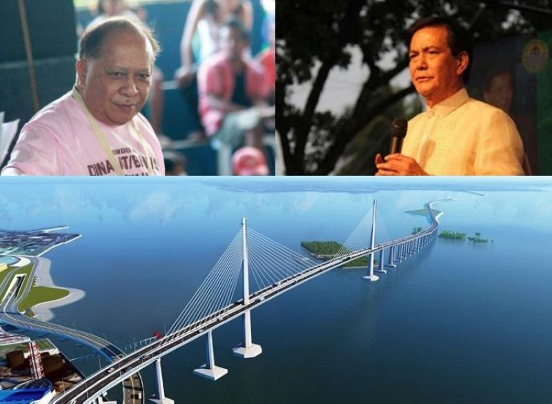 CEBU. (Clockwise) Former Cordova mayor and Presidential Legislative Liaison Office undersecretary Adelino Sitoy, Cebu City Vice Mayor Michael Rama and the  Cebu-Cordova Expressway or Cebu-Cordova Bridge. (File photos)