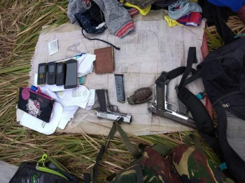 HINOBA-AN. Two suspected New People's Army rebels were killed in an encounter with army soldiers on April 17 at Purok Yuring, Sitio Dash 7 in Barangay Bulwangan, Hinoba-an. (Contributed photo)