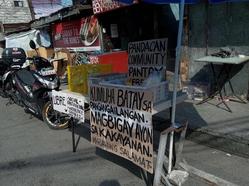 Pandacan community pantry (Marikit Arellano's Facebook)