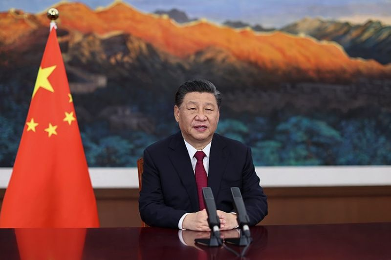 CHINA. In this photo released by Xinhua News Agency, Chinese President Xi Jinping delivers a keynote speech via video for the opening ceremony of the Boao Forum for Asia (BFA) Annual Conference, in Beijing Tuesday, April 20, 2021. (AP)