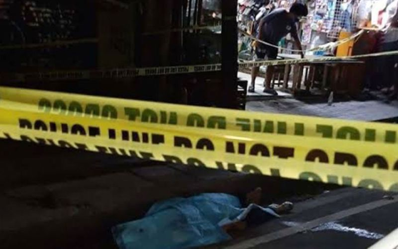 CEBU. Body of Ritchie Nepomuceno who was shot dead Monday night, April 19, 2021, in Barangay Basak Pardo, Cebu City. (Contributed photo by Tiffany Obsioma Lim)