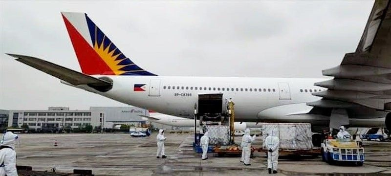 CHINA. The third batch of government-procured Sinovac vaccines are loaded into a PAL aircraft in Beijing on April 22, 2021. (PAL)