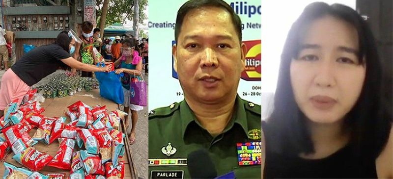 (From left) The Maginhawa Community Pantry in Quezon City, Lieutenant General Antonio Parlade Jr. and Ana Patricia Non. (SunStar File)