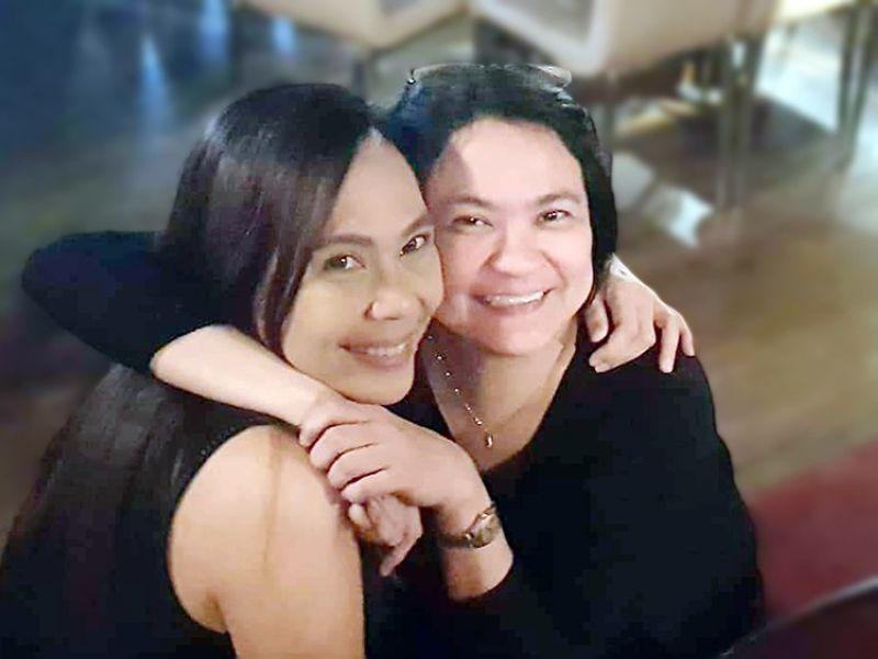 DAVAO. Good friends. The album's producer Rochelle Venuti with good friend, pianist Daphne Jocson. (Contributed photo)