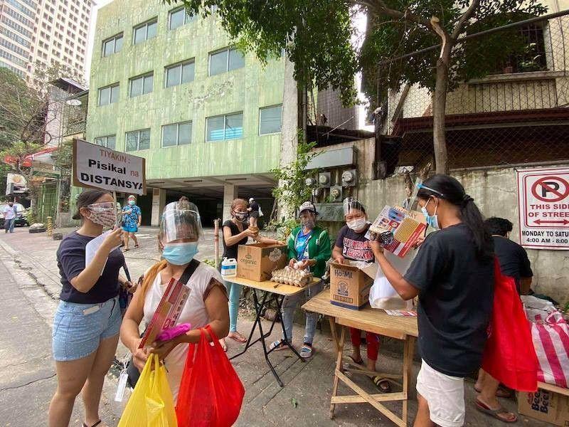 Community pantry along Matatag St., Quezon City (File)