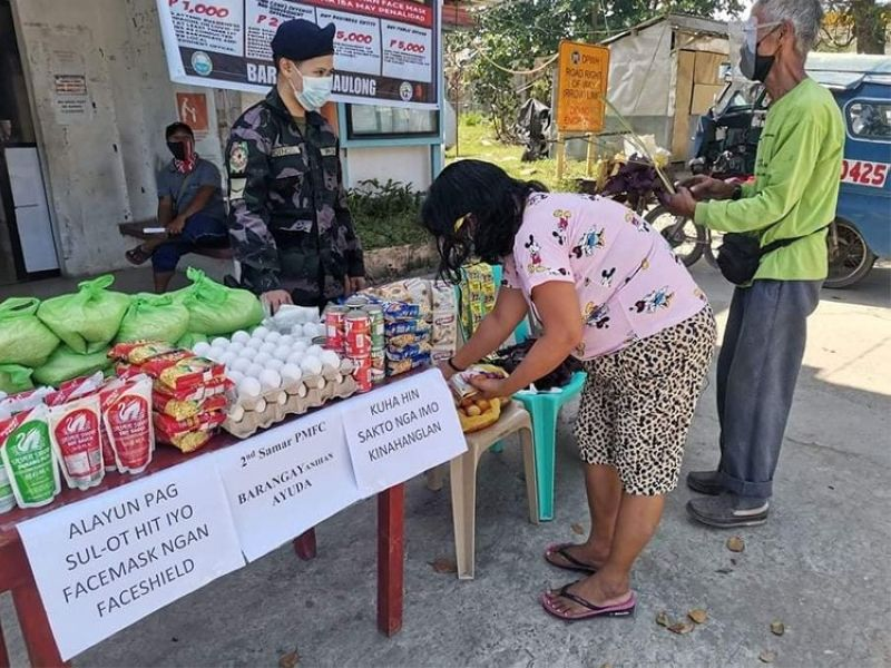 LEYTE. Police units across Eastern Visayas roll out their own community pantry dubbed as