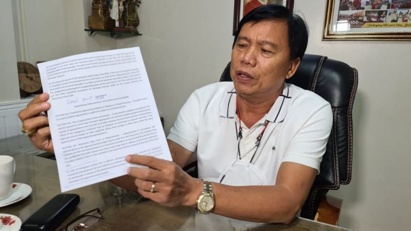 ALREADY REALIGNED. San Simon Mayor Jun Punsalan clarified that he already realigned P9 million for the purchase of the Covid-19 vaccines from the Local Development Fund. (Chris Navarro)