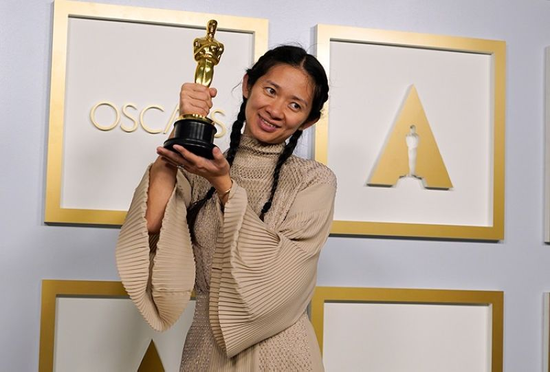 USA. Director/Producer Chloe Zhao, winner of the award for best picture for