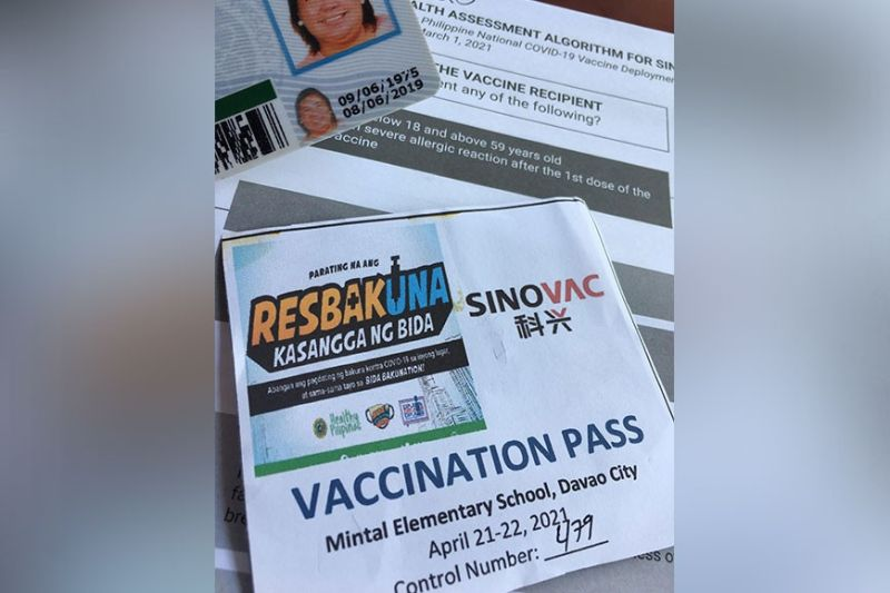 DAVAO. My vaccination number slip. (Apple Guiao-Alvarez)
