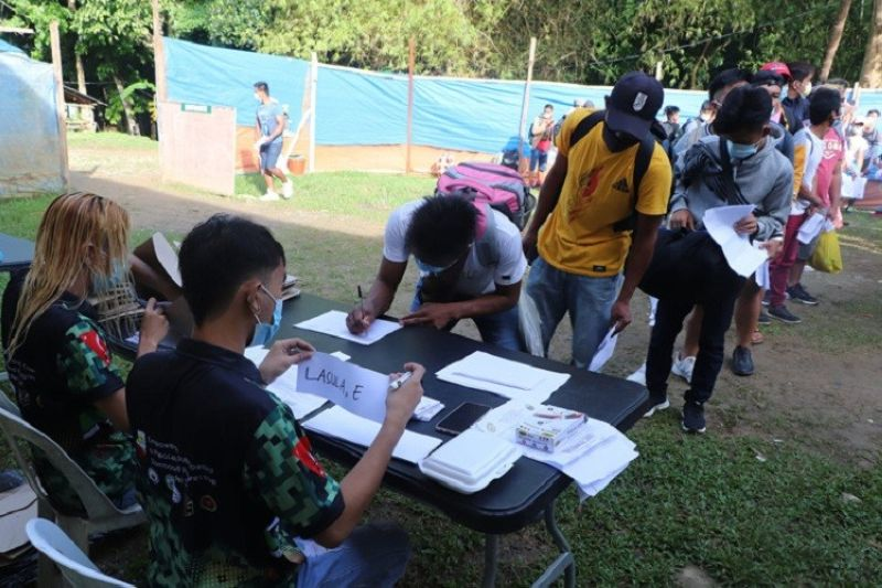 ZAMBOANGA. The Philippine Army's 53rd Infantry Battalion, in partnership with concerned stakeholders, holds a three-day youth leadership summit from April 26 to 28, which was attended by 191 youths from different areas of Zamboanga del Sur. A photo handout shows the participants registering at the opening day of the summit at Camp Major Cesar Sang-an that houses the 1st Infantry Division headquarters in Labangan, Zamboanga del Sur. (SunStar Zamboanga)