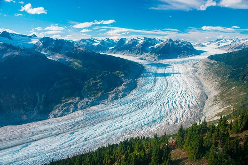CANADA. This September 2017 photo provided by researcher Brian Menounos shows the Klinaklini glacier in British Columbia, Canada. (AP)