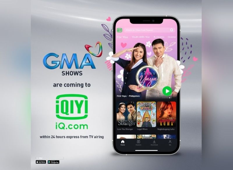 GMA shows on iQiyi. (Contributed photo)