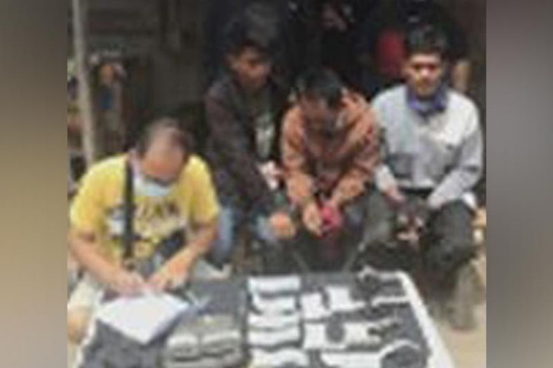ZAMBOANGA. Three fishermen were arrested while some P1.4 million worth of illegal drugs seized by undercover policemen in an anti-drug operation in this city. A photo handout shows a police (left) conducts inventory of the confiscated illegal drugs and other pieces of evidences. (SunStar Zamboanga)