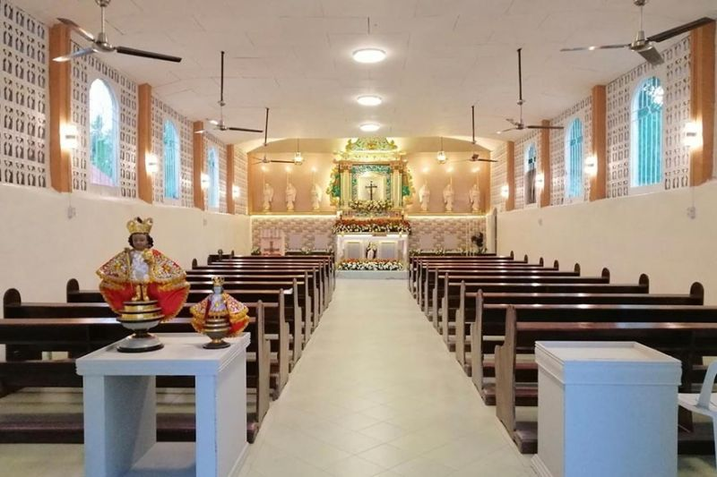 RENOVATED CHAPEL. The historic Santa Cruz Chapel in Barangay Daanlungsod, Alcoy, Cebu underwent renovation in time for the fiesta in honor of the Holy Cross on May 3, 2021. / CONTRIBUTED