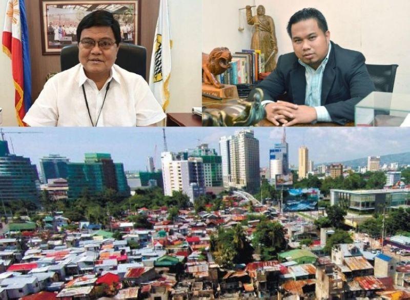CEBU. (Clockwise) Cebu City Mayor Edgardo Labella, Cebu City Legal Officer Rey Gealon, and the 93-1 land. (File photos)