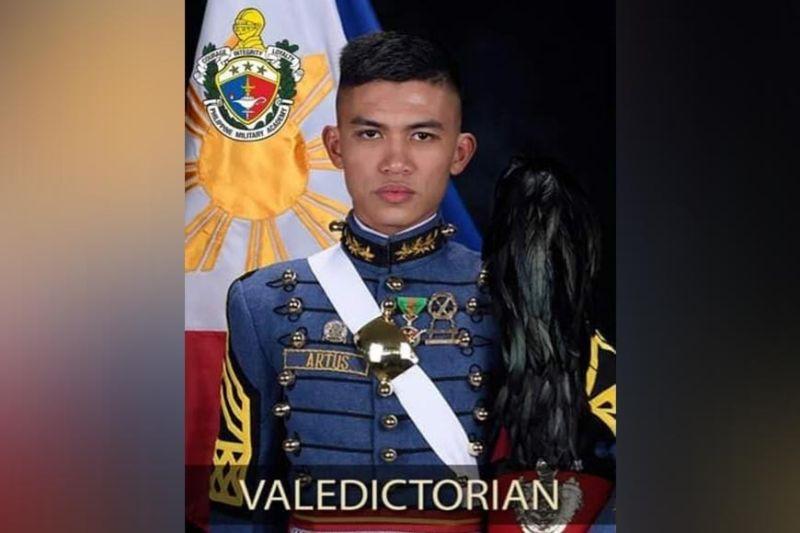NEGROS. Cadet First Class Janrey Cabanero Artus of San Enrique town in Negros Occidental is the valedictorian of the Mandirigmang Samahan ng Lakas na Sandigan ng Bayan (Masaligan) Class of 2021. (PMA photo)
