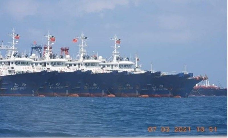 Chinese vessels in the West Philippine Sea (File)