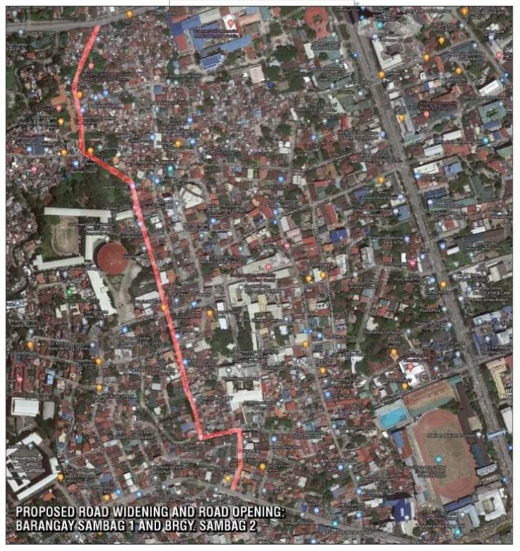 ROAD WIDENING. A one-kilometer, two-lane access road has been proposed to connect P. del Rosario St. and B. Rodriguez St. The project may cost P15 million. It includes a sidewalk and drainage system on both sides. / CITY COUNCILOR JERRY GUARDO