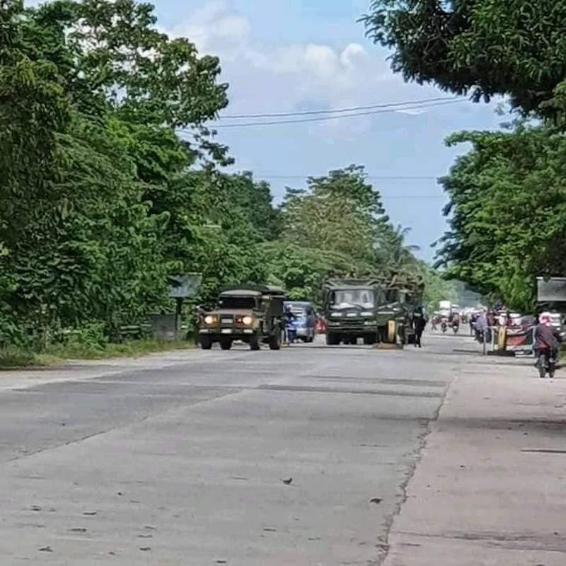 MAGUINDANAO. The national highway in Datu Paglas town is again open to the public. (State television PTV)