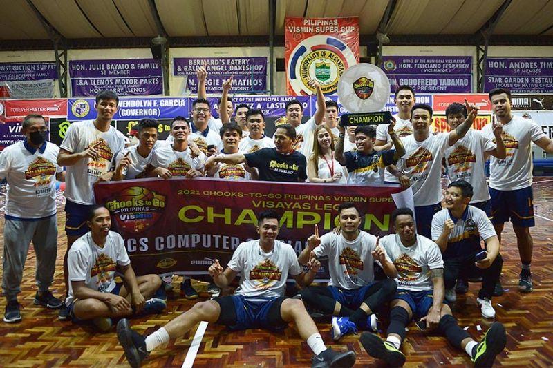 KCS-Mandaue celebrates their championship win in the Visayas leg of the Chooks-to-Go Pilipinas VisMin Super Cup