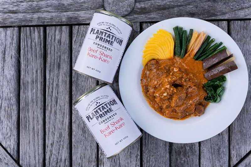 FLAGSHIP. Aiming to bring five-star dining in the comforts of everyone's home, Plantation Prime introduced its flagship product Beef Shank Kare-Kare (beef stew in peanut sauce) in a ready-to-eat can. / PLANTATION PRIME