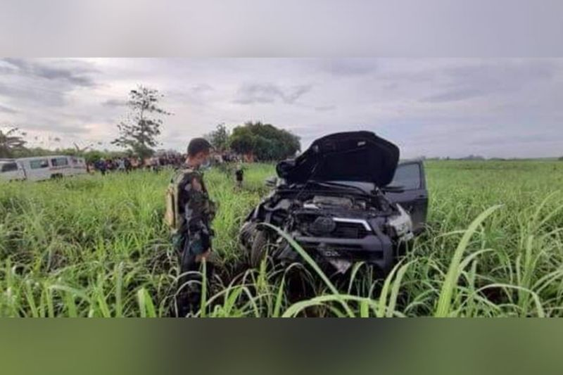 NEGROS. Two siblings died after the motorcycle they were riding on was hit by a pick-up truck along the highway in Barangay Mansalanao, La Castellana on Monday, May 10, 2021. (Photo from La Castellana police)