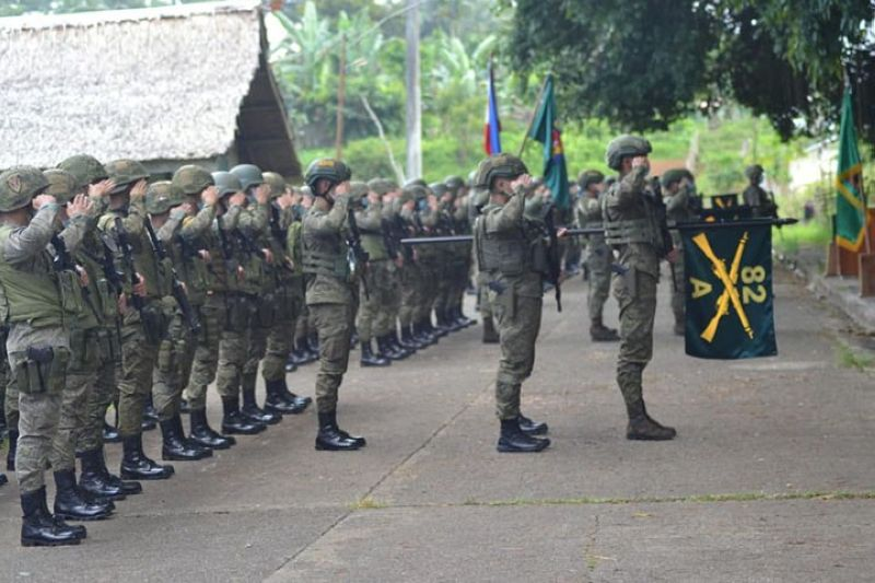 ZAMBOANGA. The 82nd Infantry Battalion (IB) receive numerous commendations for its contributions to the fight against the Dawlah Islamiya terrorists in Lanao del Sur. A photo handout shows the 82IB troops in formation during the recent send-off ceremony as the battalion returns to Cebu. (SunStar Zamboanga)